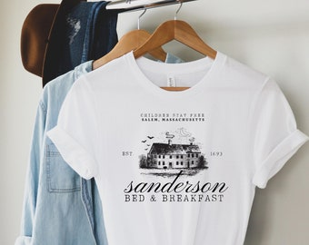 Sanderson Sisters Shirt / Hocus Pocus Gift / Salem Bed & Breakfast / Halloween Shirt / Binx and Billy / Halloween Shirt
