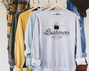 Sanderson Sister's Sweatshirt / Sanderson Brewing Company Shirt / Salem MA Shirt / Halloween Sweatshirt / Winifred Halloween Gift