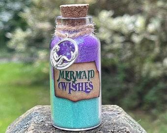 Mermaid Wishes Bottles / Little Mermaid Ariel  / Party Favors / Mermaid Charm / Disney Fish Extender Gift