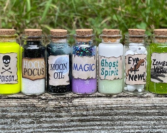 Halloween Potions / Poison / Hocus Pocus / Zombie Virus / Ghost Spirit / Magic /Moon Oil / Apothecary / Gothic Witchcraft