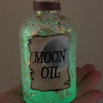 Moon Oil Apothecary Bottles / Decorative Magic Potions / Moon Glow / Harry Potter Gift / Glow in the Dark