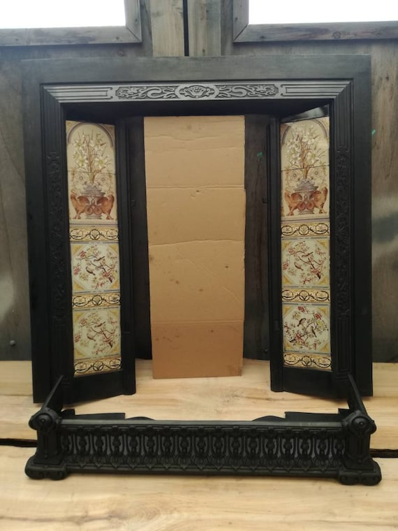 Restored 1838 Cast Fireplace With Antique Ceramic Tiles And Etsy