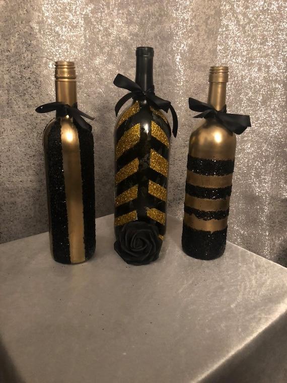Great Gatsby/ roaring 20s centerpieces wine bottle wedding   Etsy