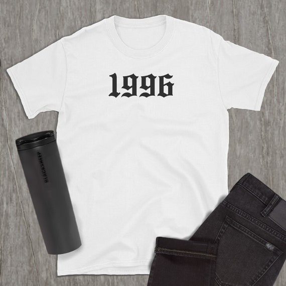 1996 Birthyear Old English T-Shirt