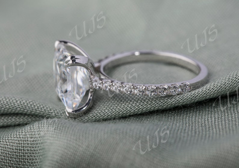 3.09 CT Fine Princess Cut Wedding Ring,Promise Ring,Gift For Her,Proposal Ring,Present For Her Silver Solitaire Ring