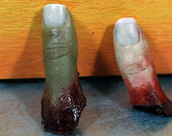 Bloody severed thumb. Perfect halloween decoration or horror prop