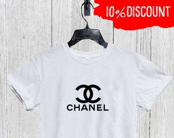 a98a8f69 Chanel Shirt, Chanel Unisex Mens Womens Kids Tshirt, Chanel T Shirt, Chanel  Inspired T-shirt, Chanel Shirt, Designer Inspired