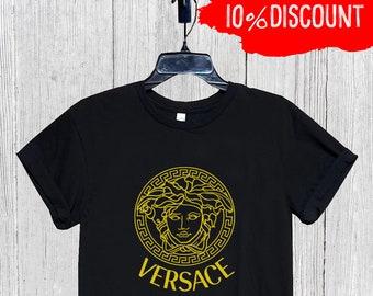 edba8cba0bc Versace Mens Womens Kids Tshirt, Versace Gold Shirt, Versace Unisex T  Shirt, Versace Inspired, Versace Cap, Designer Tshirt, Luxury