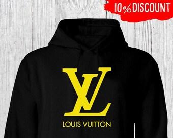cae3943e6c77 Louis Vuitton Hoodies, Louis Vuitton Gold Hoodie For Men Women, Louis  Vuitton Inspired, Louis Vuitton Unisex Pullover, Louis Vuitton Hoody