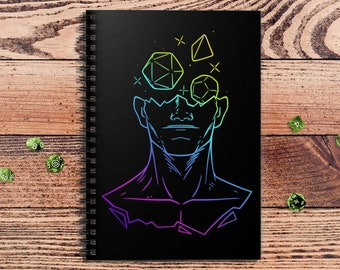 Head in the Game Notebook Color | Fantasy | Notepad | Book | DnD | DM Gift