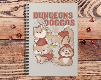 Dungeons and Doggos DnD Notebook Spiral | Gift for DnD players | Dungeons and Dragons | DM Gift | Book | Notepad