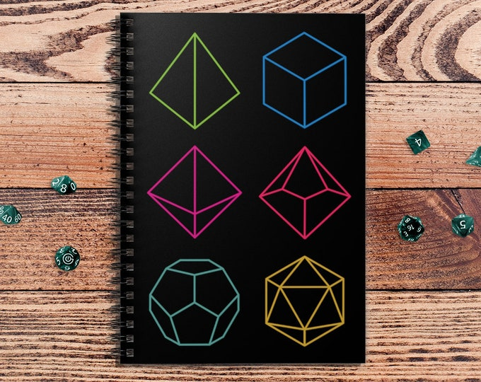 Minimal DnD Notebook Spiral | Gift for DnD players | Dungeons and Dragons | DM Gift | Book | Notepad