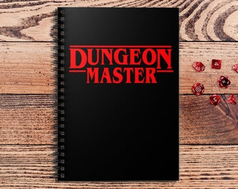 Dungeon Master DnD Notebook Spiral | Gift for DnD players | Dungeons and Dragons | DM Gift | Book | Notepad