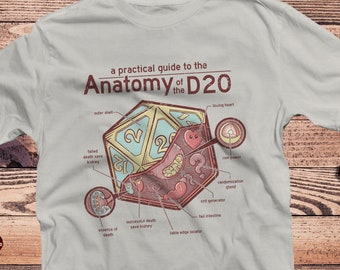 Anatomy of the D20 DnD Shirt   Dungeons Dragons   Gifts for dm   Dungeon master (dm) gifts   minimal dnd shirt