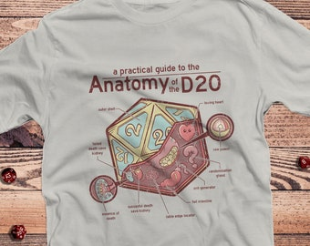 Anatomy of the D20 DnD Shirt | Dungeons Dragons | Gifts for dm | Dungeon master (dm) gifts | minimal dnd shirt