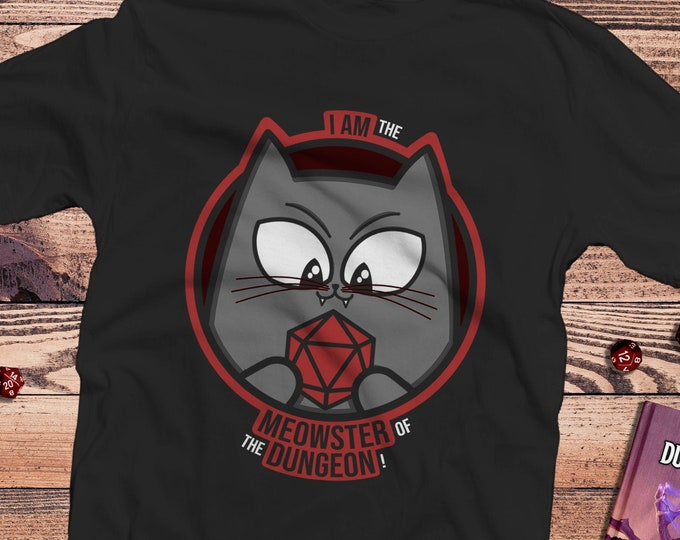 Meowster of the Dungeon shirt | DM | Dnd gift | GM | Dungeons & Dragons | Dice | Natural 20