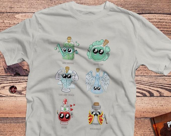 Cute Potions DnD Shirt   Kawaii DnD shirts   Cute gifts for dnd   Dungeon master (dm) gifts   Geeky dnd shirt