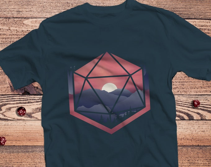 Mountain D20 dnd Shirt | DnD | Gifts for geeks | Dungeon master (dm) gifts | Geeky dnd shirt