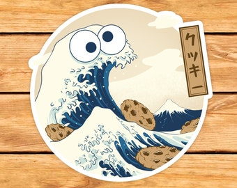 Cookiegana Wave Sticker | Cookie Monster gift | Funny sticker