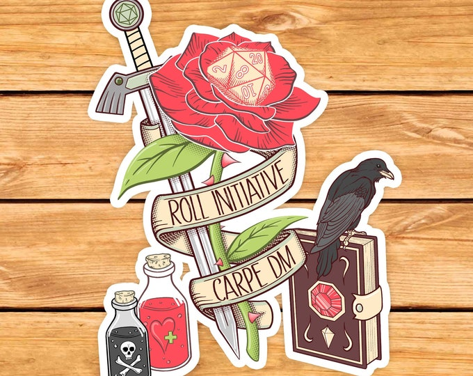 Carpe DM DnD Sticker | DM Gift | Roll initiative | Dungeons & Dragons