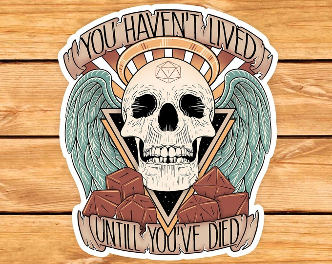 Honor their dead Dnd Character Sticker | Natural one | Critical failure | Dungeons & Dragons | Dnd gift