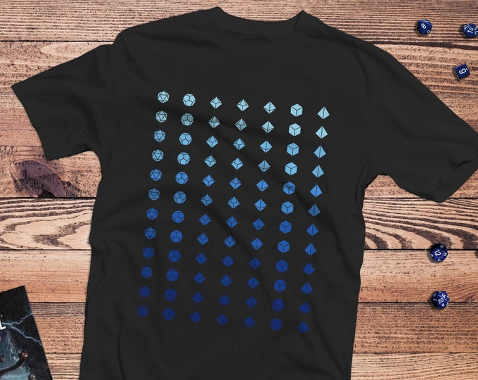 Faded dice Shirt | DnD | Gifts for geeks | Dungeon master (dm) gifts | Geeky dnd shirt