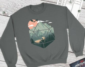 A D20 Scene sweatshirt |  | Gift for DnD players | Dungeons and Dragons | DM Gift | dnd