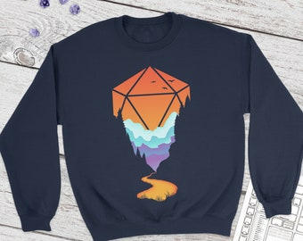 Golden D20 Sweatshirt | DnD | Dungeons and Dragons | DM Gift | dice