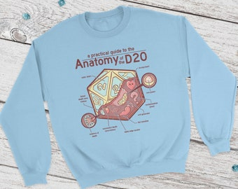 Anatomy D20 Dnd Sweatshirt | Dungeons and Dragons | DM Gift | Gift for geeks