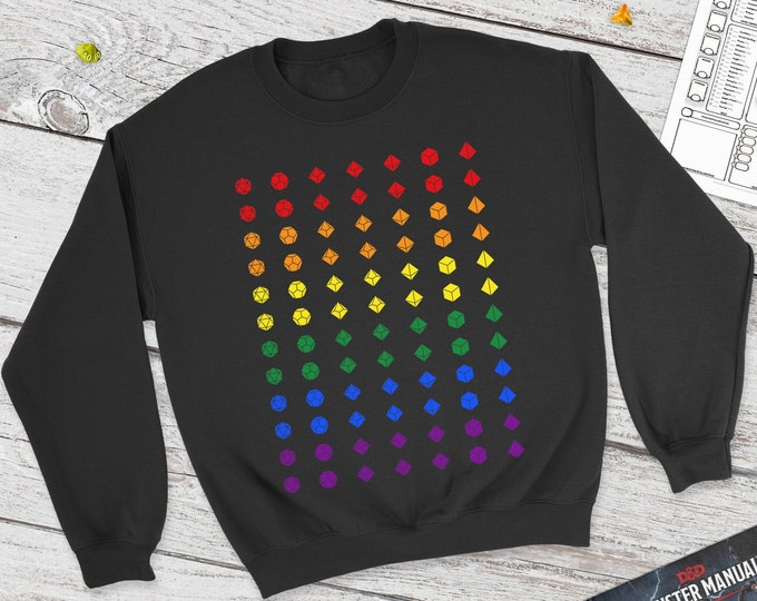 Dice Pride Dnd Sweatshirt | DnD | Dungeons and Dragons | DM Gift | Gift for geeks