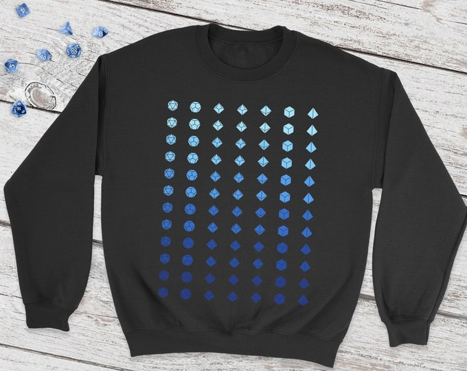 Faded Dice Dnd Sweatshirt | DnD | Dungeons and Dragons | DM Gift | Gift for geeks