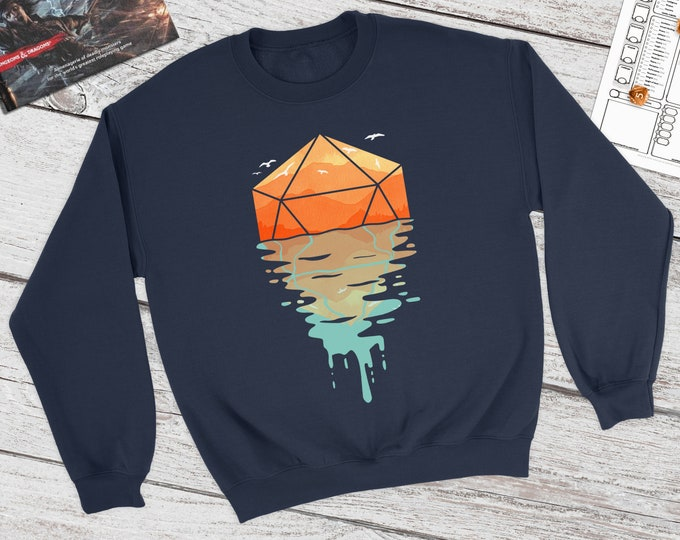 Rippling D20 Dnd Sweatshirt | DnD | Dungeons and Dragons | DM Gift | Gift for geeks