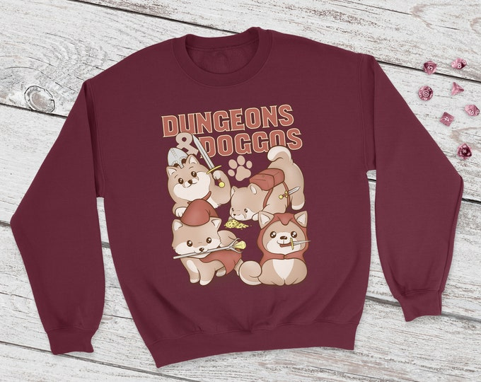 Dungeons and Doggos Sweatshirt | DnD | Dungeons and Dragons | DM Gift | Gift for geeks