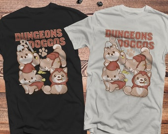 Dungeons & Doggos dnd Shirt  | Gifts for geeks | Dungeon master (dm) gifts | Geeky dnd shirt | Dogs