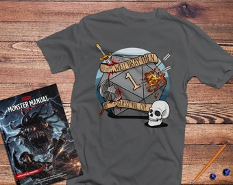 Dungeons & Dragons Shirt | DnD Guess I'll Die | Gifts for geeks | Dungeon master (dm) gifts | Geeky dnd shirt