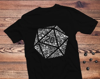 Mosaic D20 dnd Shirt | Dungeons & Dragons  | Gifts for geeks | Dungeon master (dm) gifts | Geeky dnd shirt