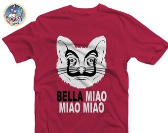 Bella Miao Shirt | Bella Ciao | La casa de papel | Netflix | Moneyheist