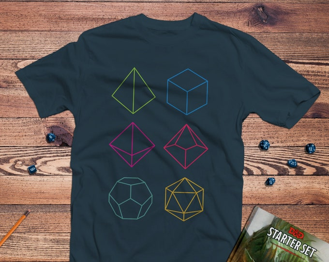 Featured listing image: Minimal dnd Shirt | Dungeons & Dragons  | Gifts for geeks | Dungeon master (dm) gifts | Geeky dnd shirt