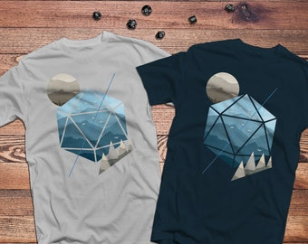 Watercolor D20 Shirt | Dungeons & Dragons | DnD | Gifts for geeks | Dungeon master (dm) gifts | Geeky dnd shirt | Dungeon and Dragon