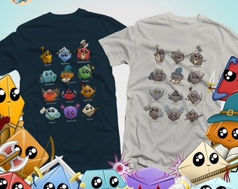 Cute Dice Classes Shirt | Kawaii DnD shirts | Cute gifts for dnd | Dungeon master (dm) gifts | Geeky dnd shirt