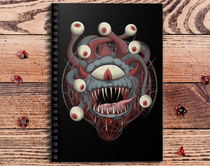 Beholder Summoning spiralbook | Beast | Dungeons and Dragons | DM Gift | Gift for geeks | DnD | Dice