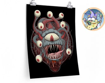 Beholder Summoning poster | Beast | Gift for DnD players | Dungeons and Dragons | DM Gift | dnd