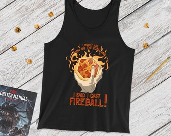 I Cast Fireball D20! tank | Spellcaster | Dungeons Dragons | Gifts for dm | Dungeon master (dm) gifts | DnD