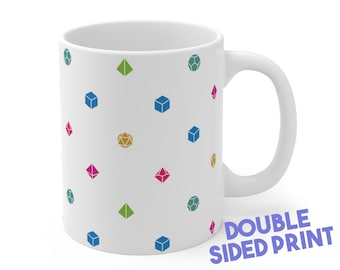 Dice Pattern Mug | Dnd gift | GM | Dungeons & Dragons | Dice | DM gift