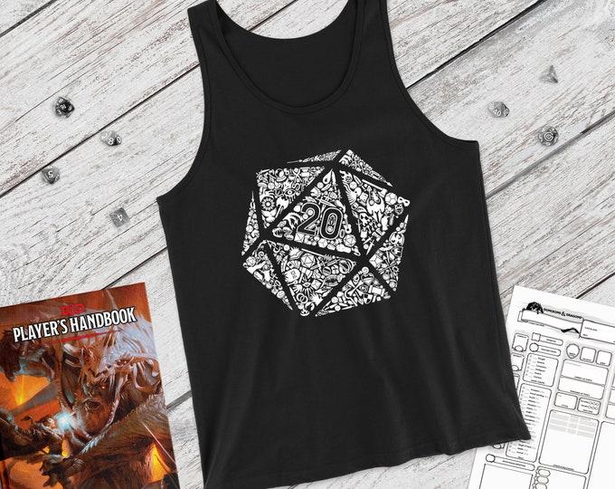 Mosaic D20 tank | adventure | Dnd gift | GM | Dungeons & Dragons | Dice | Natural 20