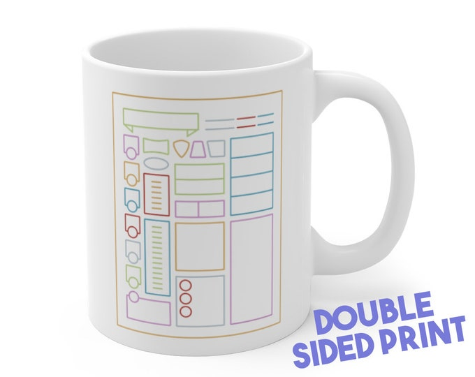Character sheet Mug | Dnd gift | GM | Dungeons & Dragons | Dice | DM gift | Cup