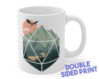 A D20 Scene mug |  | Gift for DnD players | Dungeons and Dragons | DM Gift | dnd