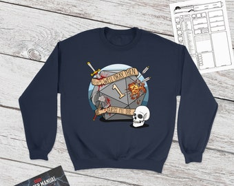 Guess I'll Die sweatshirt | Natural one | DnD gift | Dice | Critical failure | Dungeons & Dragons