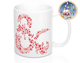 Mosaic DnD Mug | Dnd gift | GM | Dungeons & Dragons | Dice | DM gift