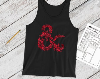 Mosaic DnD Adventure tank | Logo | DnD | Gifts for dnd | Dungeon master (dm) gifts | Geeky dnd shirt